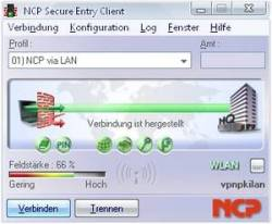 NCP Secure Entry Client für XP 64 Bit