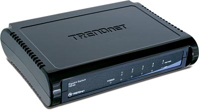 TRENDnet TEG-S5 5 Port 10/100/1000 MBit/s Gigabit-Switch