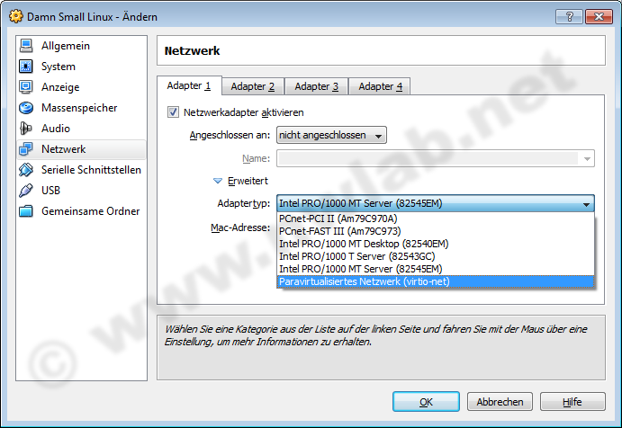 Virtual Networking mit VirtualBox :: network lab